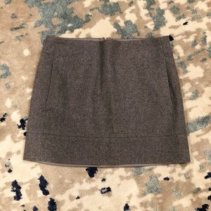 J Crew wool blend skirt with front pockets